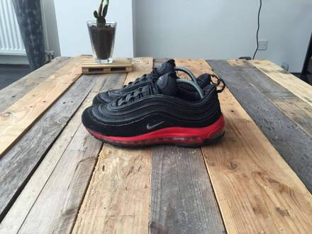 Nike Air Max 97 Black Challenge Red (beaters) - photo 1/7