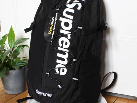 Supreme Backpack Black   DS   SS17 - photo 1/5