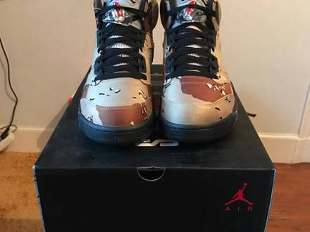 Nike <strong>Air</strong> <strong>Jordan</strong> 5 <strong>x</strong> <strong>Supreme</strong> <strong>Desert</strong> <strong>Camo</strong> - photo 1/6