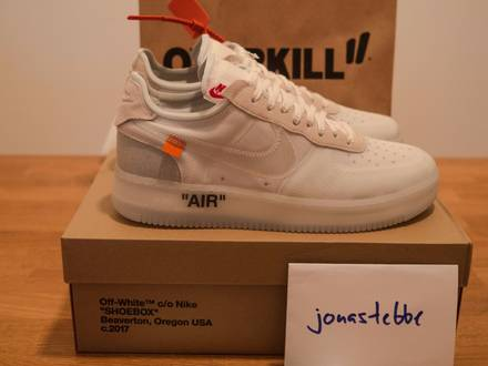 Nike x Off White Air Force 1 Low Virgil Abloh The 10 Ten - US 11.5 - EU 45.5 - DS - photo 1/5