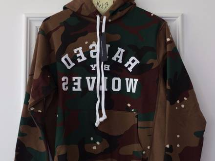 Raised By Wolves Mirror Hooded Sweatshirt (Camouflage) small size s neu new - photo 1/5