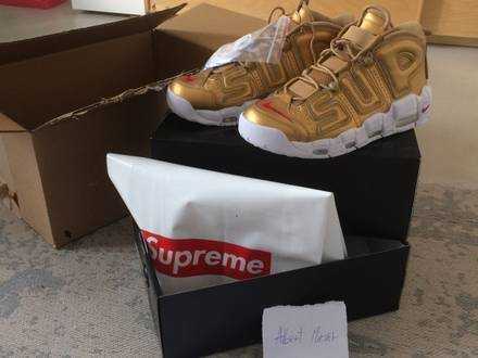 Nike x <strong>Supreme</strong> <strong>Uptempo</strong> gold US 9.5 - photo 1/5