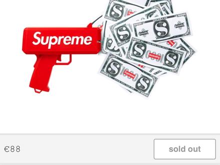 Supreme cash cannon / money gun - photo 1/5