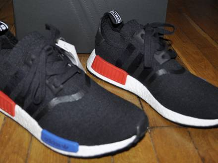 <strong>Adidas</strong> <strong>Nmd</strong> R1 Core Black Lush Red 2017 OG Size 11 Us 10.5 Uk 45 1/3 Eu - photo 1/5