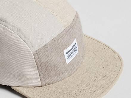 Casquette 5 panel <strong>Norse</strong> <strong>Projects</strong> bi matière comme neuve / wool and canvas hat - photo 1/5