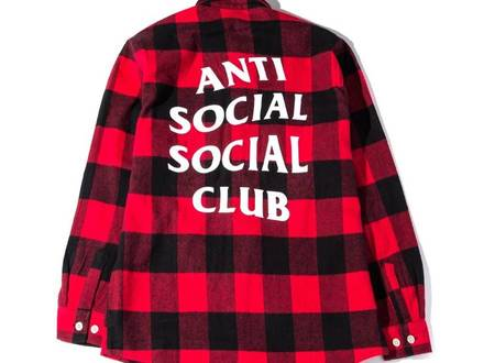 Anti Social Social Club No Expectations Flannel Size L - photo 1/5
