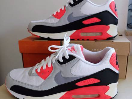2af5671677 ... SP Patch Infrared OG Shoes For Men White Nike Air Max 90 Infrared ...