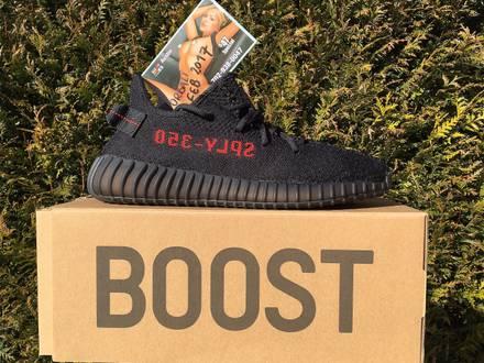 Addidas Yeezy Boost 350 V2 Black/Red - photo 1/8
