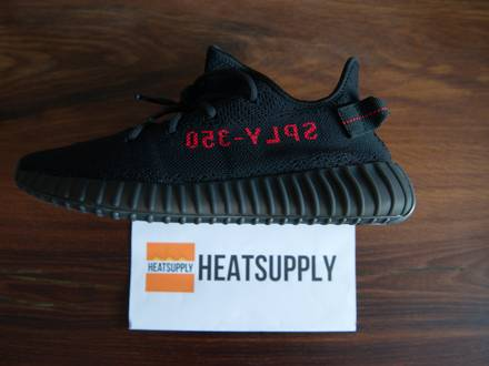 adidas YEEZY BOOST 350 V2 'Black/Red, Bred' US10.5 US11 Deadstock - photo 1/8