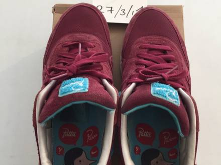 Nike Air max 1 Parra burgundy patta tz qs us 12 eu 46 - photo 3/5