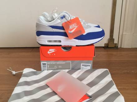 <strong>Nike</strong> Air Max 1 Anniversary Blue 7 US DS Red Atmos Master HOA Yeezy Zebra <strong>Supreme</strong> Tshirt North Face - photo 1/5