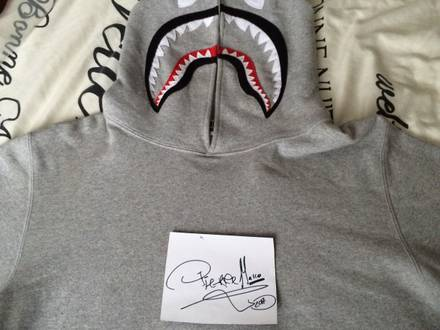 Bape <strong>A</strong> <strong>Bathing</strong> <strong>Ape</strong> Shark PONR Color grey Sweat Pullover Hoodie - photo 1/8