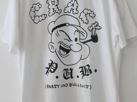 Patta Crack Pub T-Shirt 2011 White Size L Popeye Script Logo tee Supreme Box Party Und Bullshit - photo 1/5