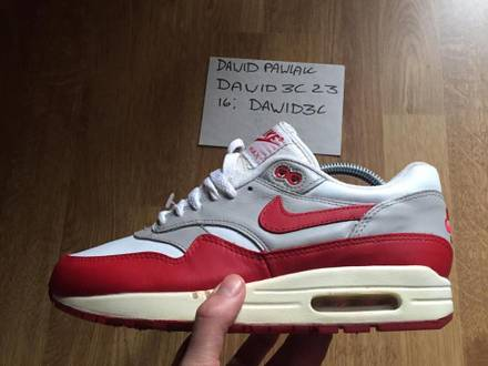 Nike Air Max 1 SC Leather white varsity red 1997 - photo 1/6