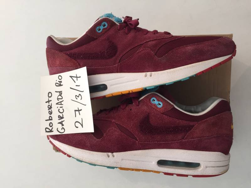 Nike Air max 1 Parra burgundy patta tz qs us 12 eu 46 - photo 1/5