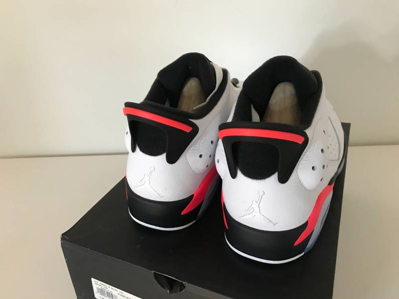 1ee63cbf9026cf ... chrome  2015 nike air jordan 6 vi retro low sz 9.5 white black infrared  og 304401