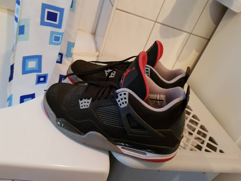 huge selection of c9164 5eb58 ... france nike air jordan 4 bred black red white cement gray schwarz rot  weiß grau klassiker