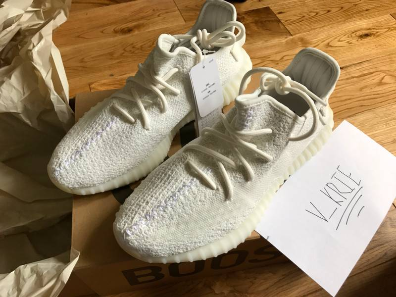 ADIDAS YEEZY BOOST 350 V2 INFANT CREAM WHITE 8K BB6373
