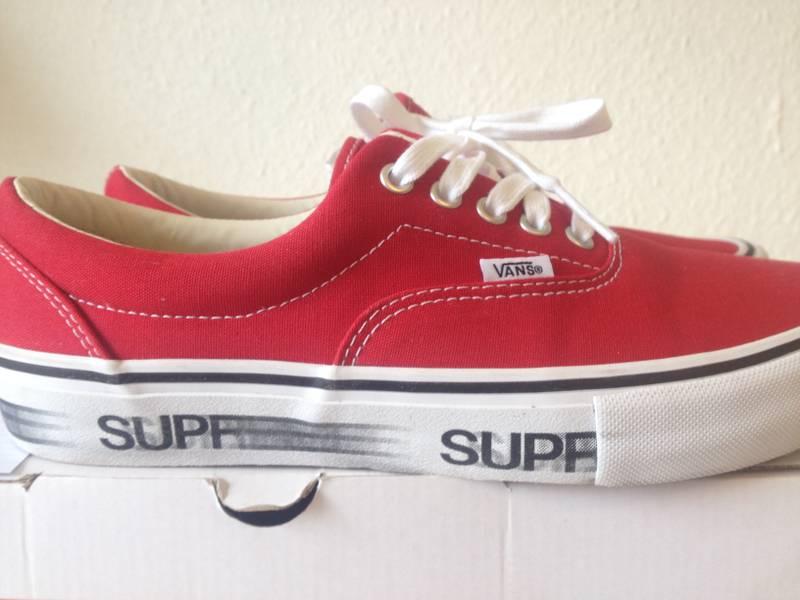 vans 8 5. vans x supreme motion logo red size us 9,5/eu 42,5 8 5 m