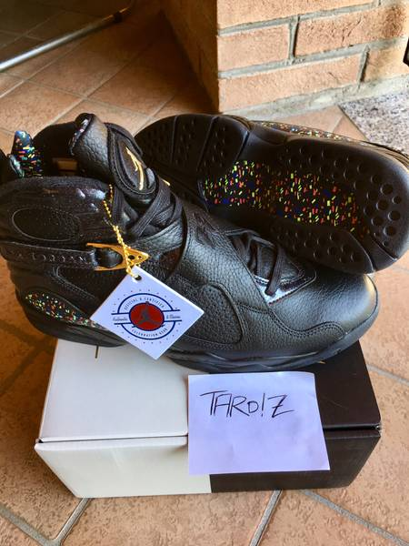 "AIR JORDAN 8 RETRO C&C ""CONFETTI"" - Size 10 - New DS condition - photo 2/5"