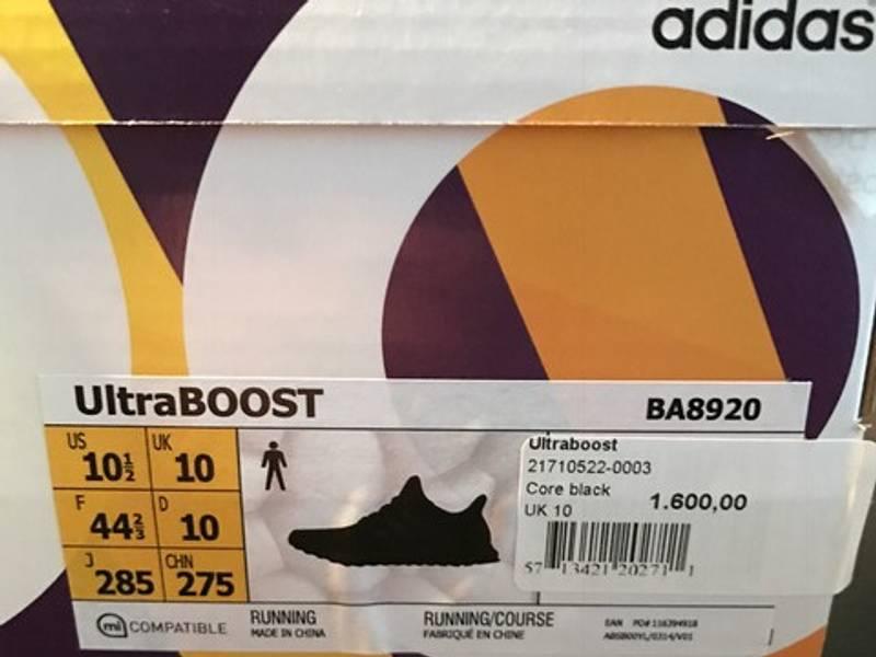 Adidas Women Running Ultra Boost Shoes In Core Black/Dark Grey