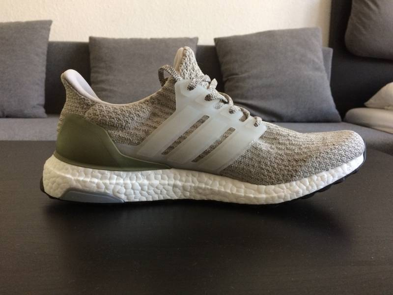 Adidas Ultra Boost 3.0 pearl grey / trace cargo (# 1105415) from Daniel