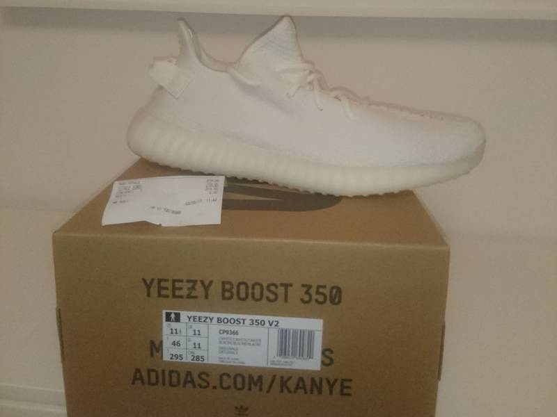 fa9848f3 Adidas Yeezy Boost 350 V2 Cream White Eur 46- Us11.5 - Uk 11