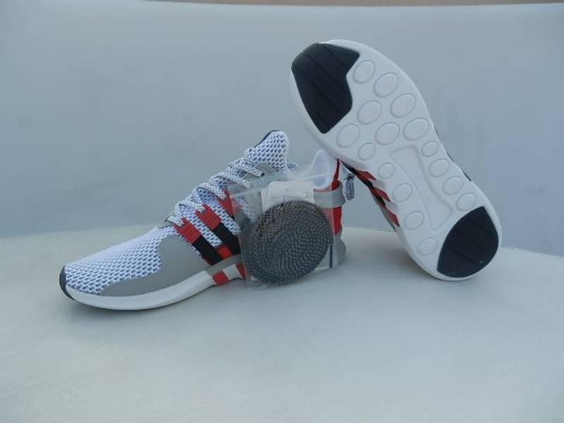 Adidas EQT ADV Primeknit White Black Turbo Red Boost