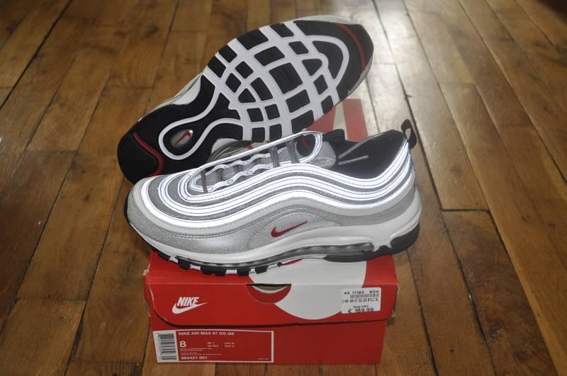 online store 94f38 9bd21 ... Nike Air Max 97 OG QS Silver Bullet Size 8 Us 7 Uk 41 Eu ...