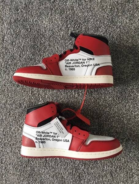 sports shoes 59f3b 30285 air jordan 1 x virgil abloh (off white) uk 10 us 11