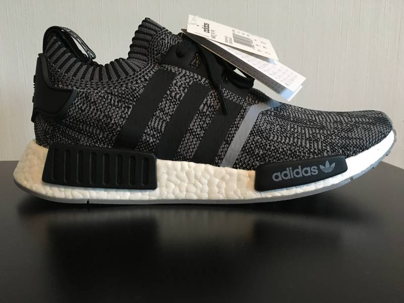 Hot cheap NMD R1 Bedwin Night Core Black Grey White shoes online