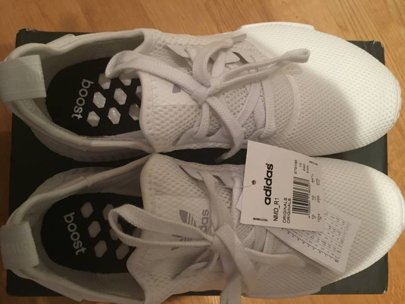 tqdtfc Adidas nmd r1 white reflective US 10,5 (DS) (#1088843) from