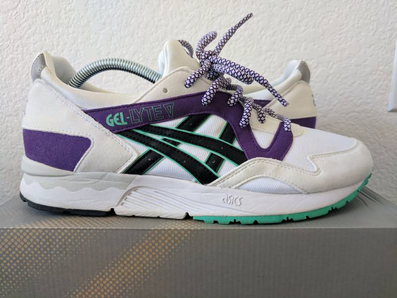 Asics Gel Lyte V Retro OG White/Purple 1st Retro Series - photo 1/8