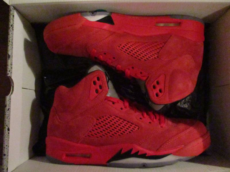 """Air Jordan 5 """"Red Suede"""" (Size 8.5) - photo 4/8"""