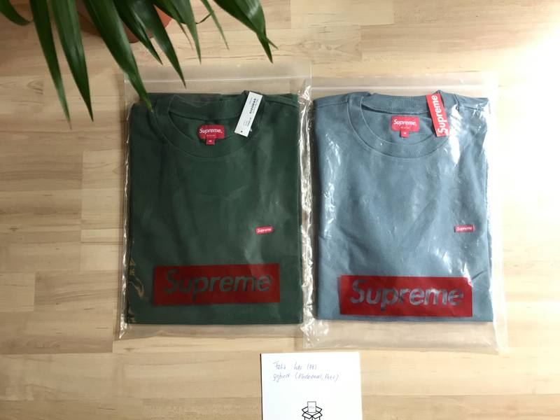 Supreme Small Box Pique Tees M green - photo 2/5