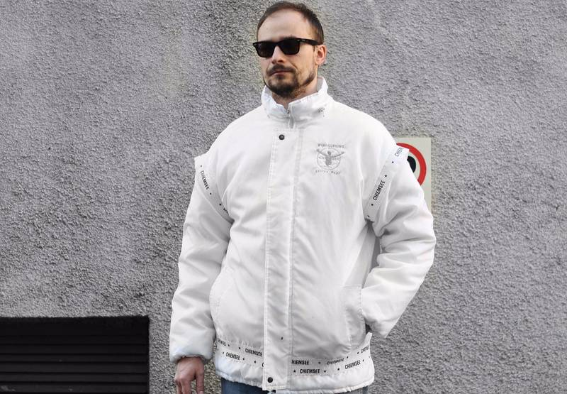 90s Vintage Chiemsee Windsurfing Active Wear Jacket Windbreaker Bomber Parka Unisex Mens Womens Retr