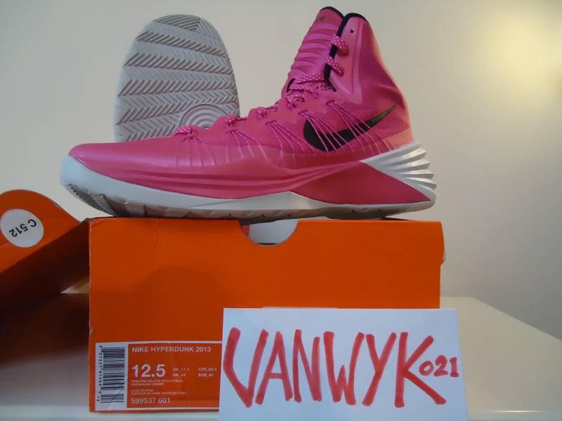 online store c5ca2 a5b24 ... promo code for nike hyperdunk 2013 lunarlon kay yow pink ribbon ed us  125 eu 47 ...