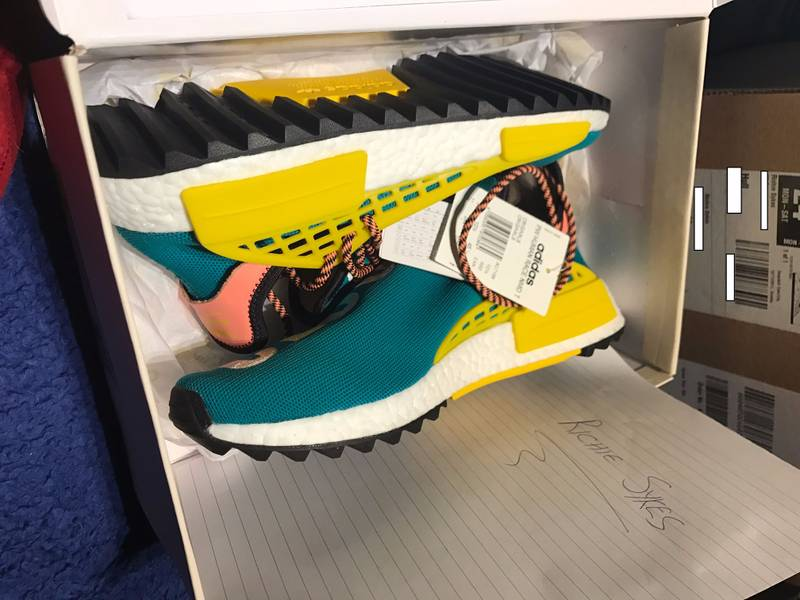bec08edffd925 Adidas Originals Pharrell Williams Human Race NMD Yellow TRÈS