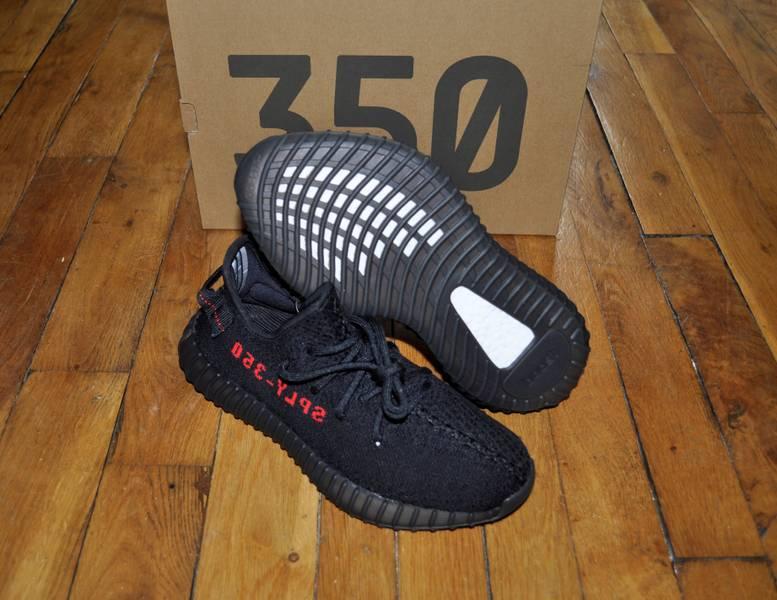 Adidas Yeezy Boost 350 V2 Bred Black Red CP9652 Size 6 7507af809
