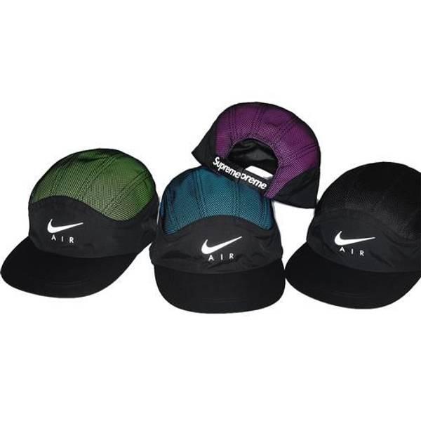 f1c64aeb ... camp cap black b772b 33588 50% off supreme x nike green reflective logo  hat nike x supreme trail running hat ...