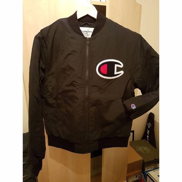 Supreme x Champion Color Blocked Jacket Black Small - photo 1/5