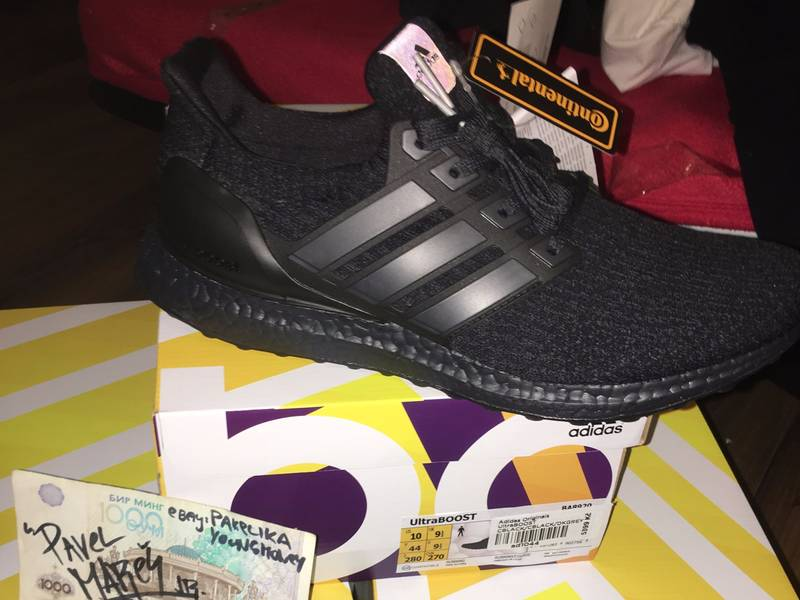 Adidas Ultra Boost 3.0 LTD Mid Gray BB 1092 Size 11.5 Leather Cage