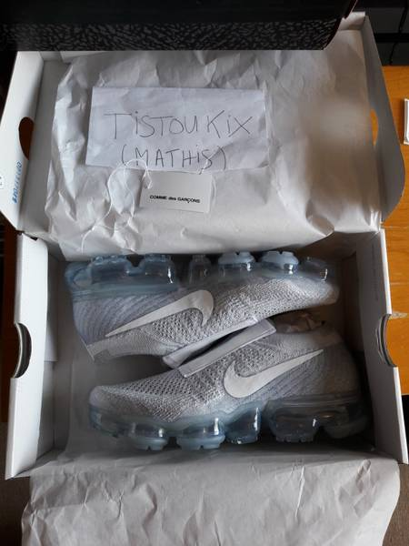 [QC] Received white CDG x Nike Vapormax (Satelite pics) Album on