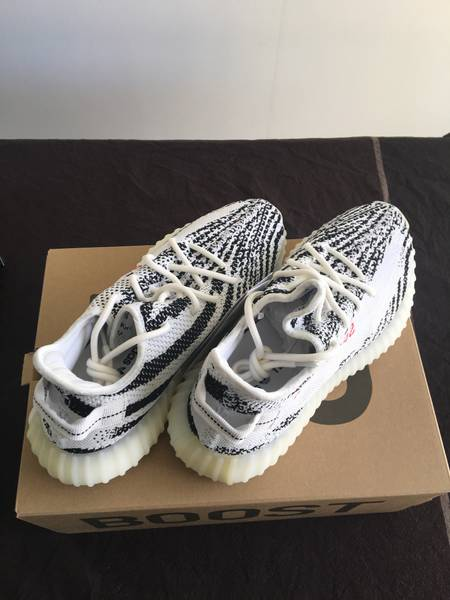 Authentic Adidas Yeezy 350 v2 Black pink from topkickz