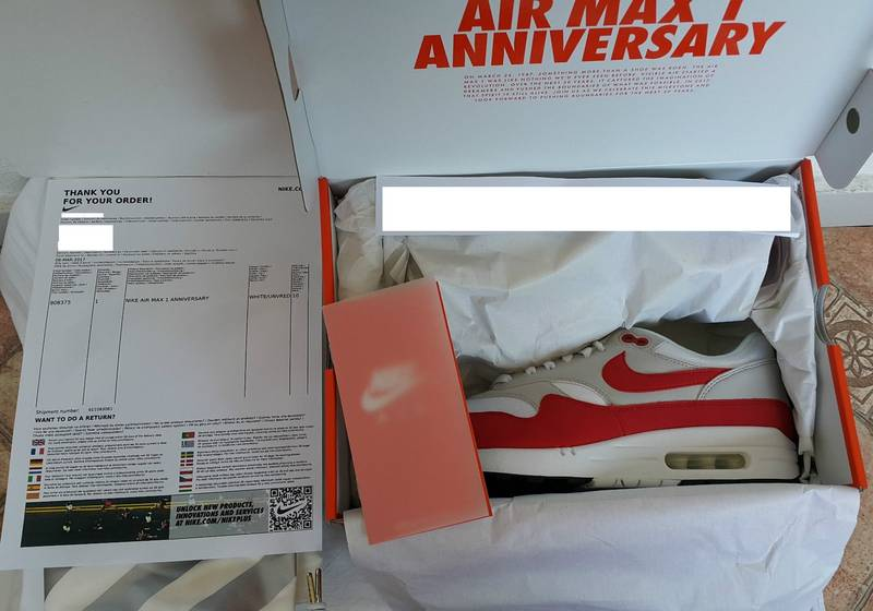 buy online aaf67 f5a35 ... Nike Air Max 1 og Red 30th Anniversary DS 2017 uk9 EU44 - photo 7  .