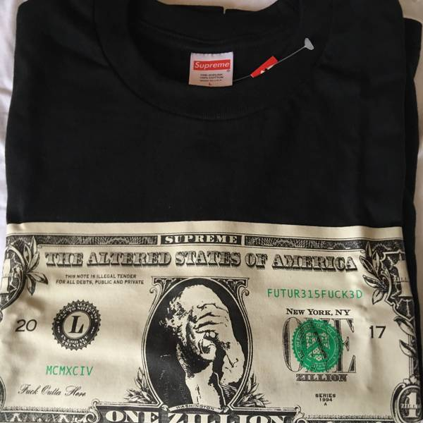 Supreme Dollar Zillion Tee Fw 2017 Box Logo Bogo 1142594