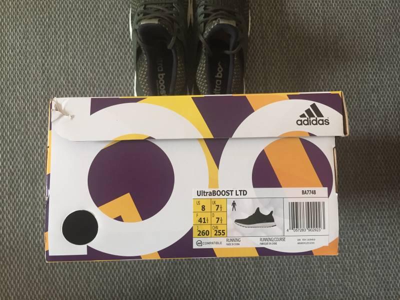 Adidas Ultra Boost 3.0 LTD Triple Black Solid Grey BA8923 Size: 8 11