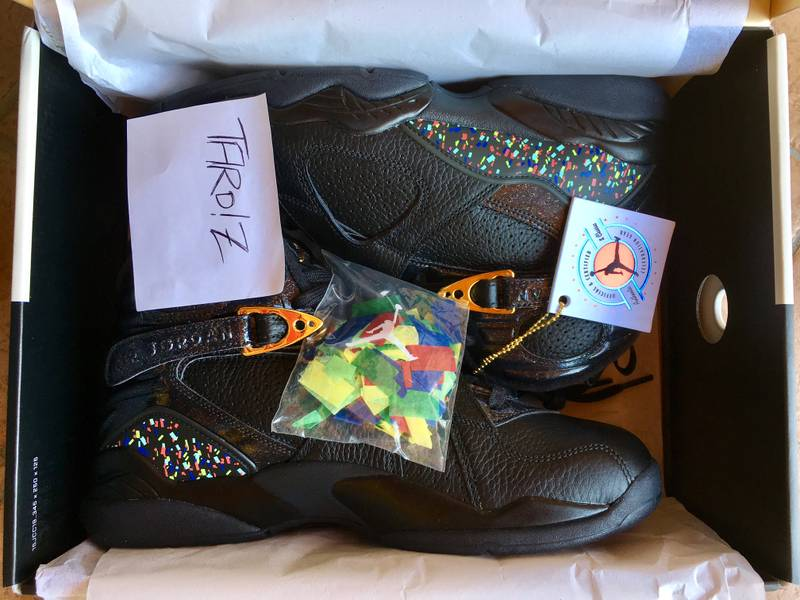 "AIR JORDAN 8 RETRO C&C ""CONFETTI"" - Size 10 - New DS condition - photo 1/5"
