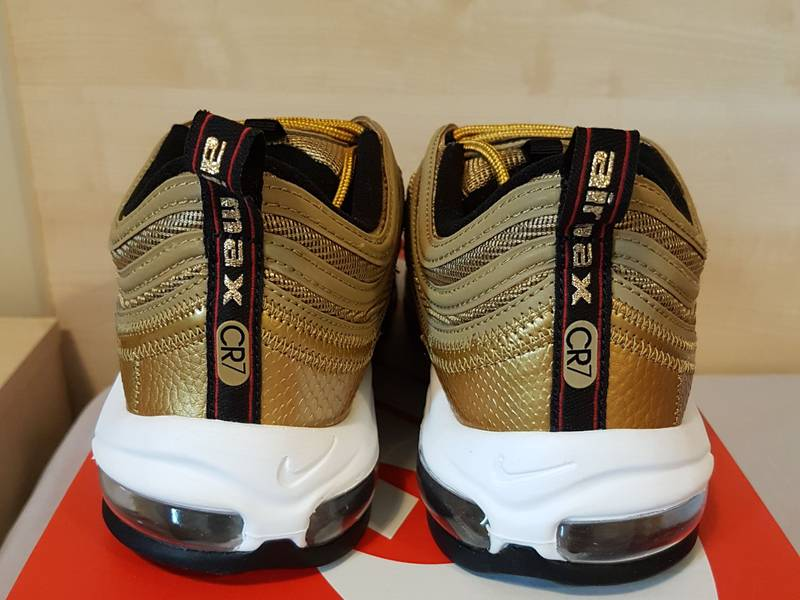 separation shoes 5e90f a269e cheap cristiano ronaldo with nike air max 97 cr7 gold for sale