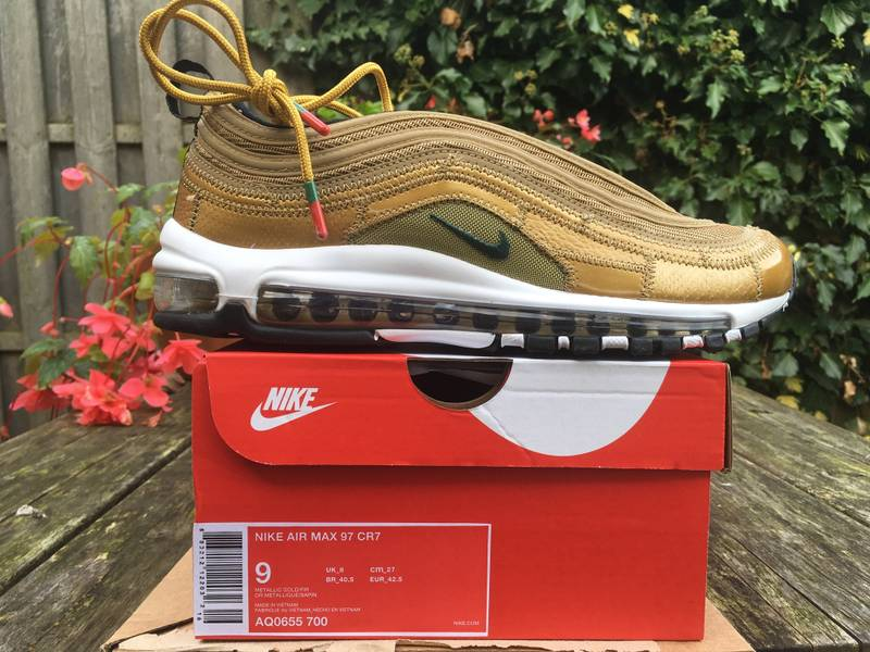 6a6126c3854a ... aq0655-700 Cristiano Ronaldo Gold Patch Sole Nike air max 97 CR7 Cristiano  Ronaldo CONTACT BEFORE BUYING - photo 18 ...